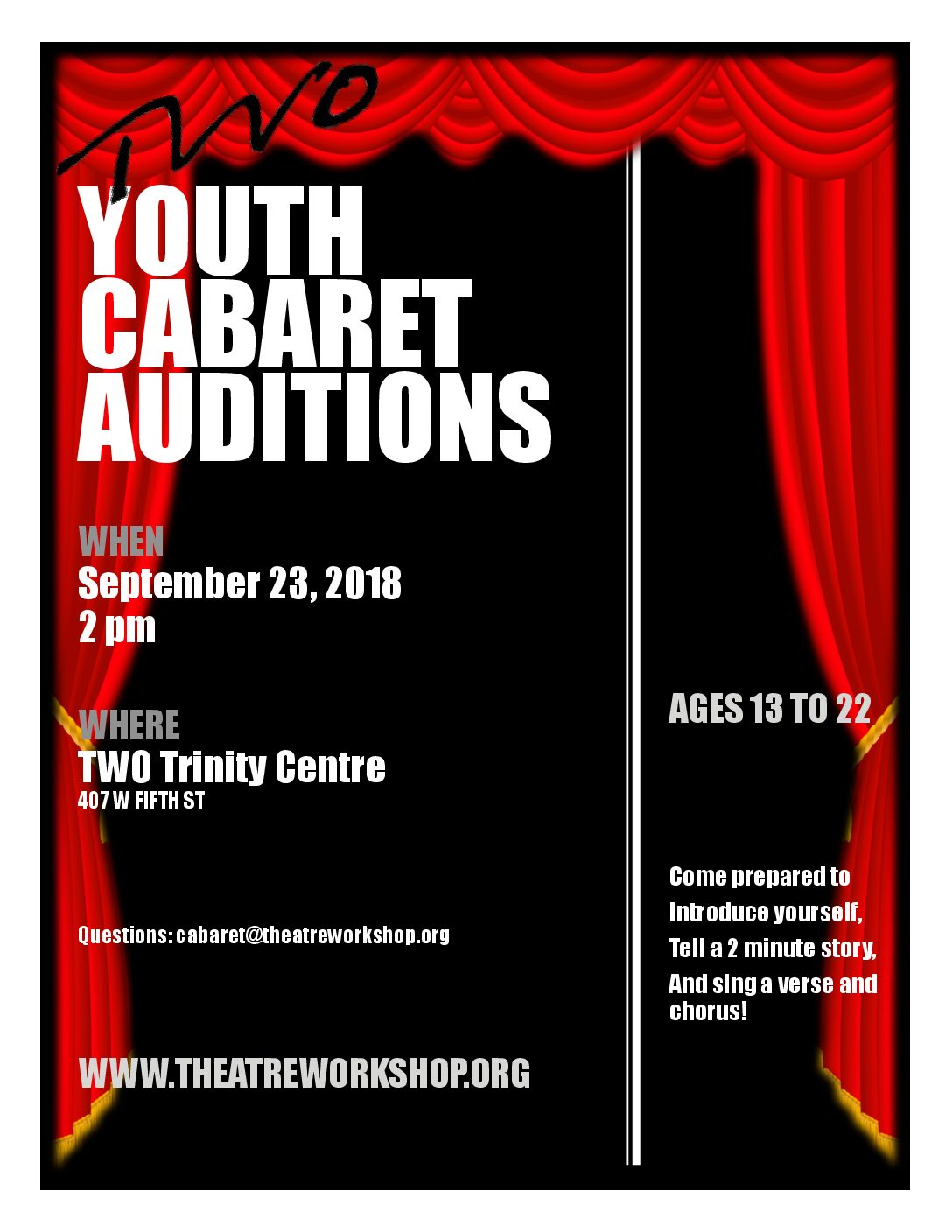 Youth Cabaret Auditions